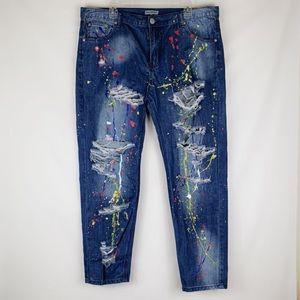 Alice & You   Paint Splatter Skinny Jeans 14